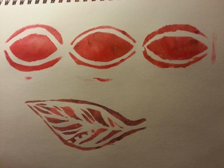 Handmade stencils by Cristina Parus @ creativemag.ro