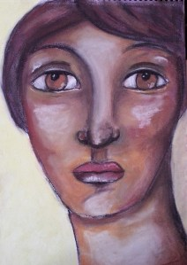 Soft pastels portrait by Cristina Parus @ creativemga.ro