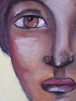 Soft pastels portrait by Cristina Parus @ creativemag.ro