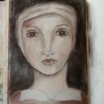 Portret in charcoal si pasteluri cretate