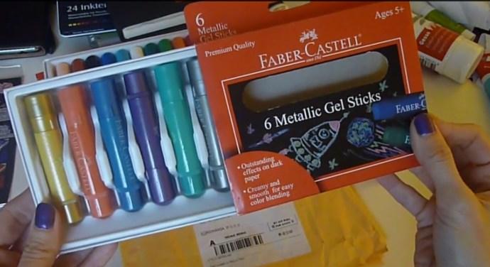 gel sticks metalic @ creativemag.ro by Cristina Parus