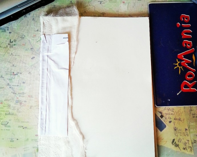 Handmade art journal bound by Cristina Parus @ creativemag.ro
