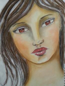 Soft pastel portrait by Cristina Parus # creativemag.ro