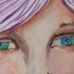 Proiect de weekend: portret semi-realist în acuarelă
