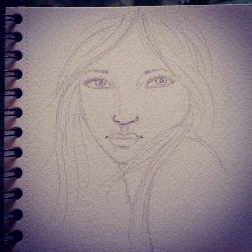 Realistic portrait sketch by Cristina Parus @ creativemag.ro