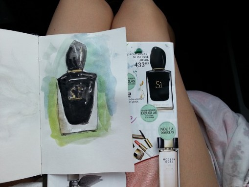 Si perfume by Girgio Armani - illustration by Cristina Parus @ creativemag.ro