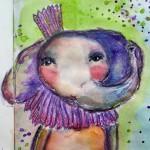 Whimsical: un elefant purpuriu