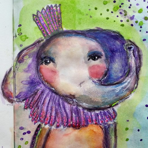 Whimsical elephant by Cristina Parus @creativemag.ro