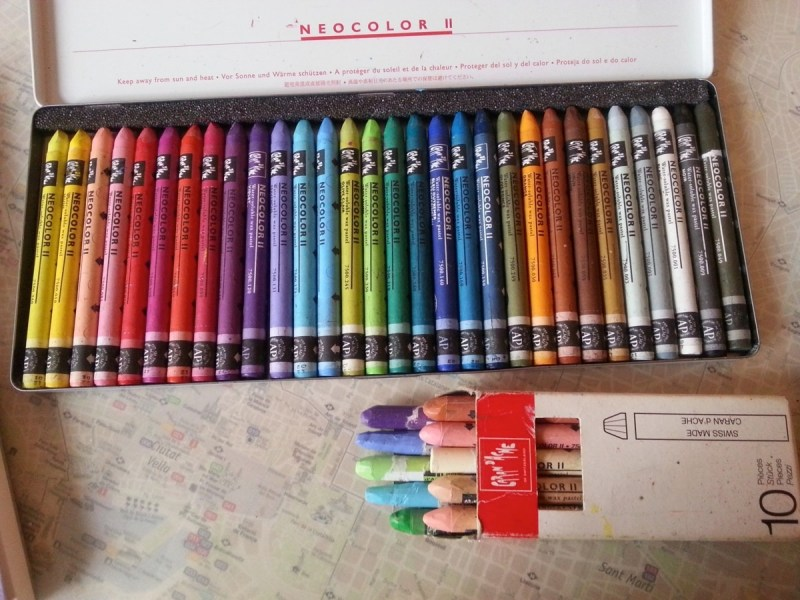 Caran d'ache neocolor II @ httP://creativemag.ro by Cristina Parus