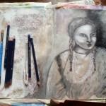 Tonal painting: Femeie Indianca: Cheyenne woman