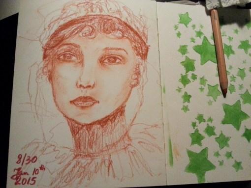 8/30 portrait challenge by Cristina Parus @ creativemag.ro