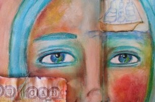 You can create whatever you imagine - art journal page by Crisitina Parus @ creativemag.ro