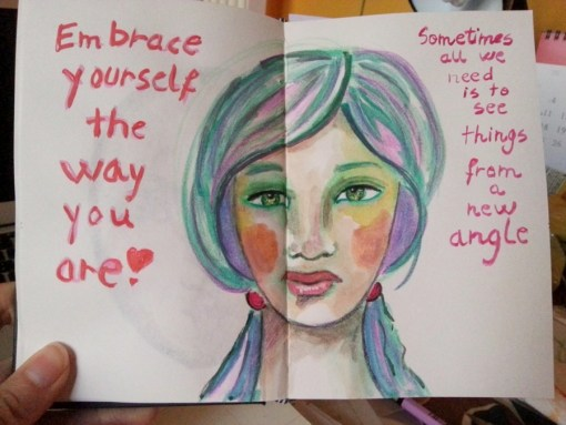 Embrace Yourself watercolor portrait by Cristina Parus @ creatovemag.ro