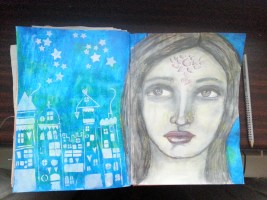 Very Scrap Art Journaling May Challenge - by Cristina Parus @ creativemag.ro