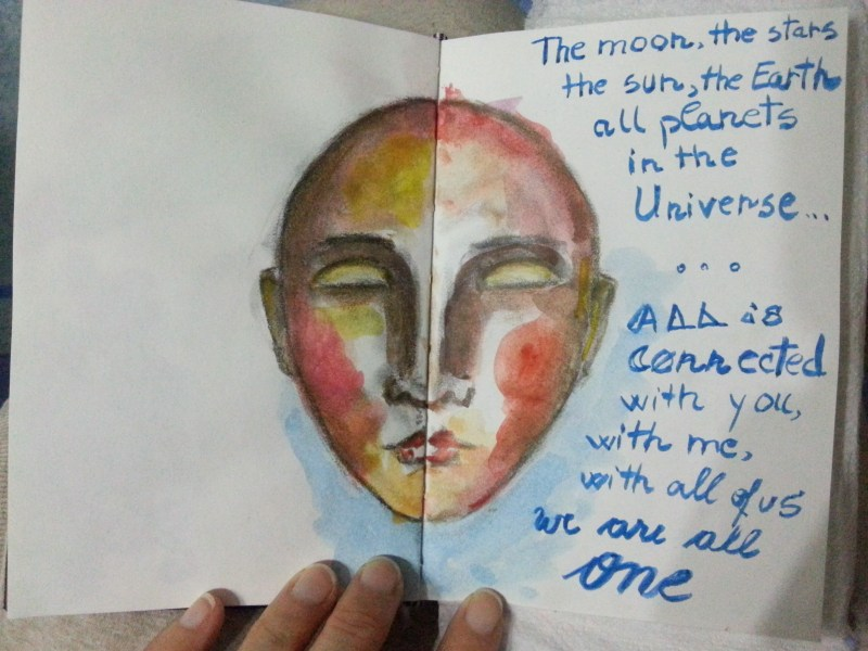 One sketch a day - The moon, the stars - by Cristina Parus @ creativemag.ro