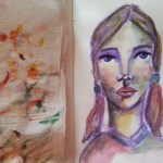 One sketch a day – girl in watercolors