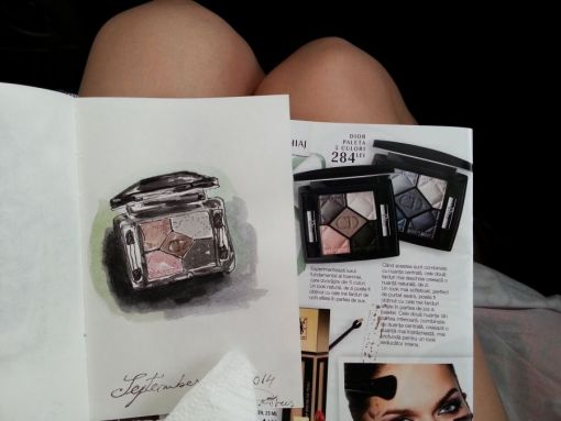 One sketch a day - Watercolor eye shadows by Cristina Parus @ creativemag.ro