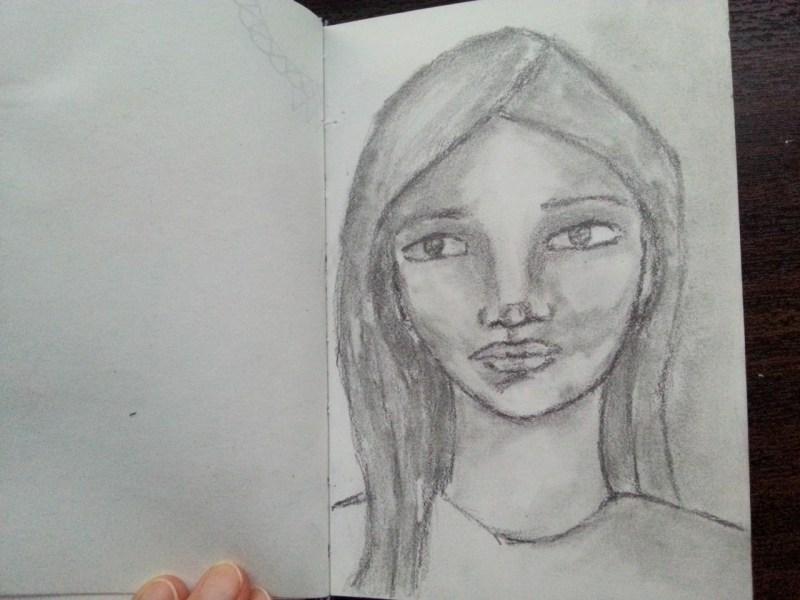 Pencil sketch - little girl - by Cristina Parus @ creativemga.ro