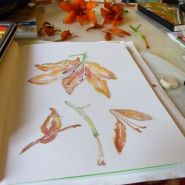 Watercolor Orange Lilies by Cristina Parus @ creativemag.ro