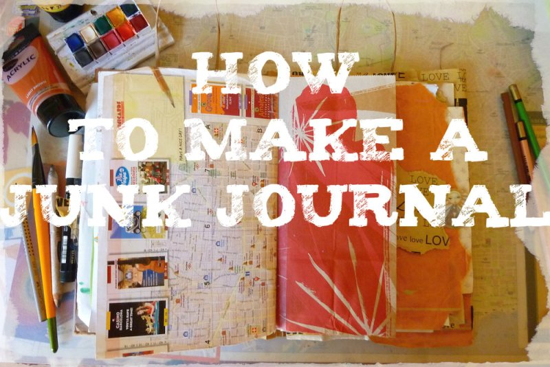 How to make a junk journal ---- by Cristina Parus @ creativemag.ro