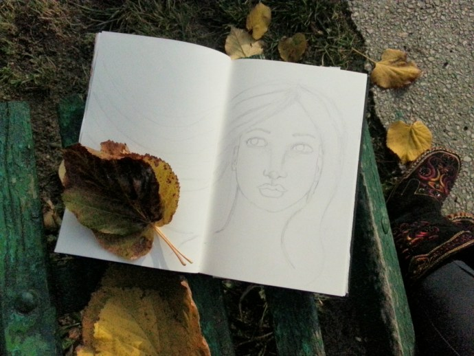 Painting in nature - by Cristina Parus @ creativemag.ro {Nov 9th}