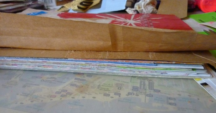the spine of the junk journal by Cristina Parus @ creativemag.ro