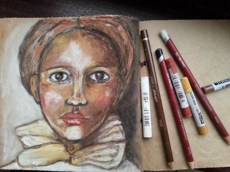 Soft pastel portrait by Cristina Parus @ creativemag.ro