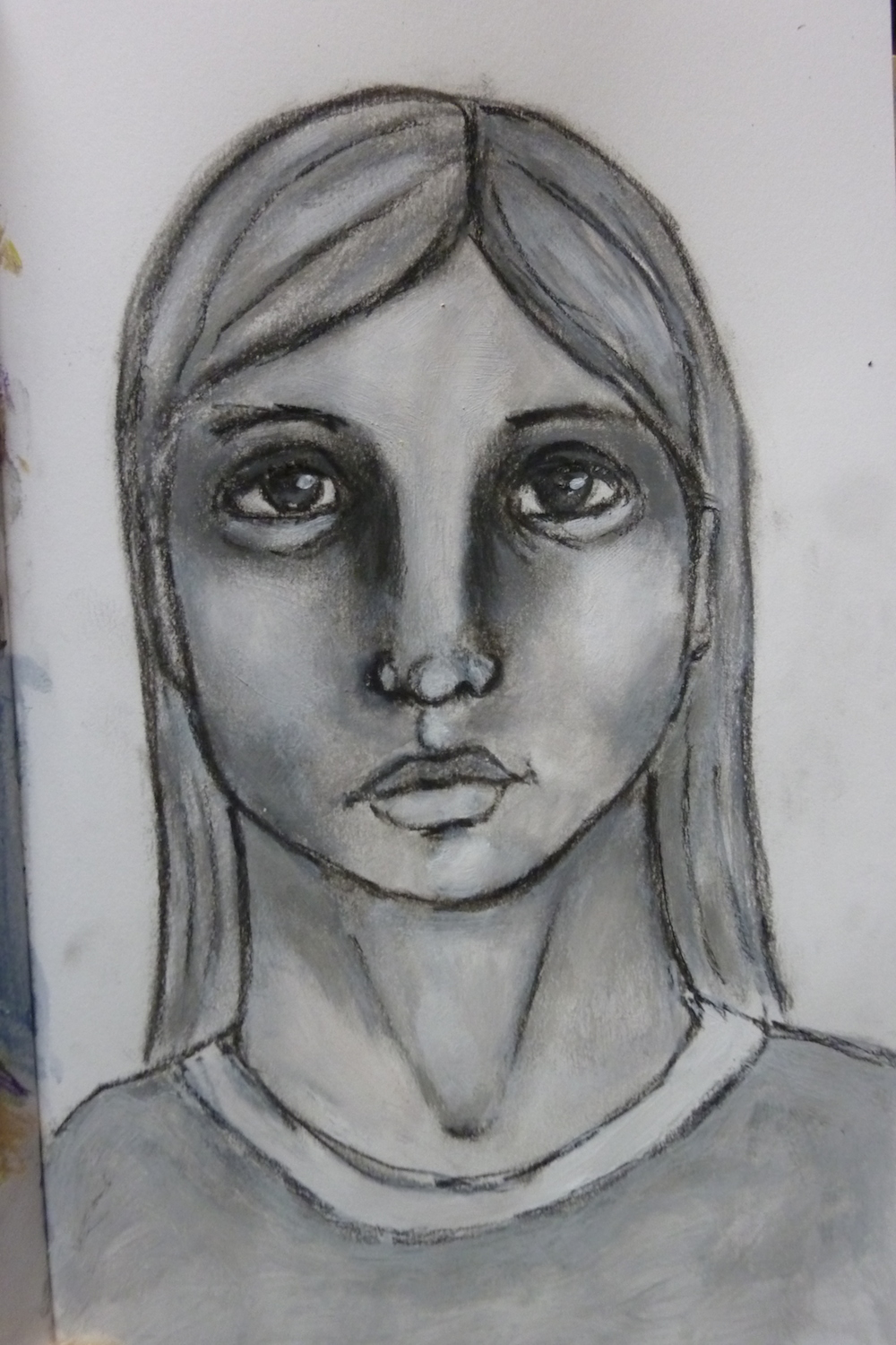 Charcoal portraits by Cristina Parus @ creativemag.ro