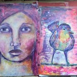 The junk journal project – diving intuition mixed media portrait