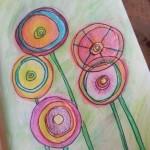 Joyful abstract flowers