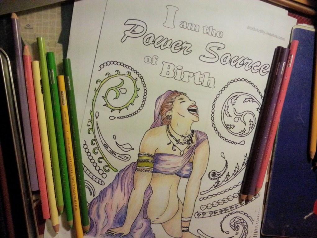 Celebrating Birth Coloring Book - Cristina Parus @ creativemag.ro