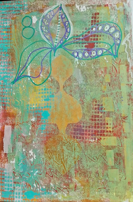 Art journal background by Cristina Parus