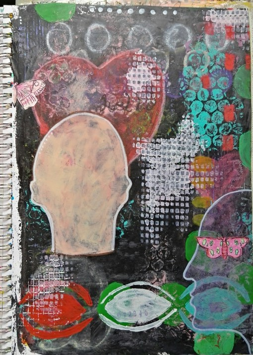 Use stencils in your art journal - by Cristina Parus @ creativemag.ro