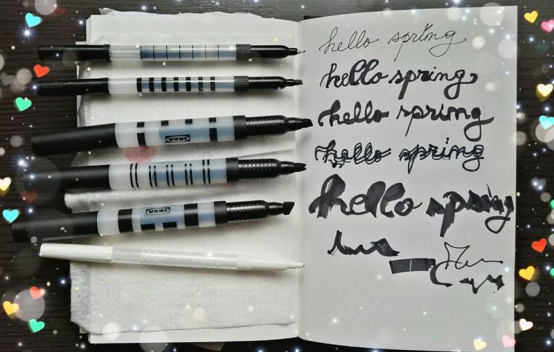 Ikea markers sample writing @ creativemag.ro