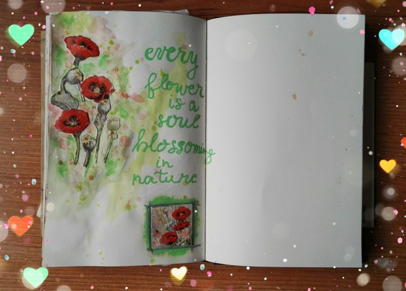 The Quoted Pages - Every flower is a soul blossoming in nature - Gerard De Nerval - by Cristina Parus @ creativemag.ro