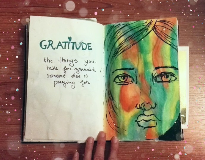Gratitude - things that we take for granted, someone else is praying for. - page by Cristina Parus @ creativemag.ro