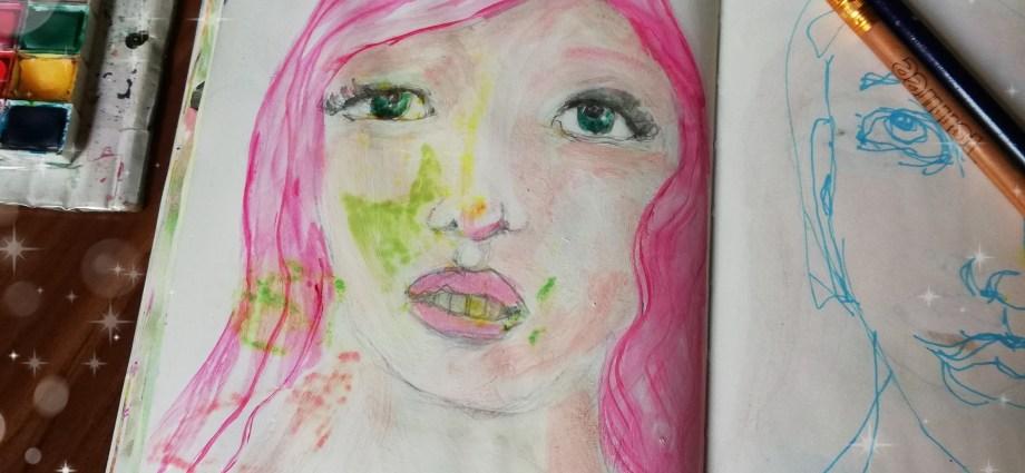 Girl with pink hair by Cristina Parus @ creatovemag.ro