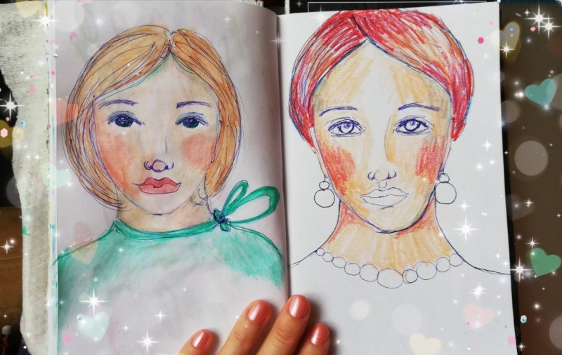 Two whimsical sketches by Cristina Parus @ creativemag.ro