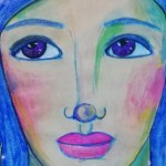 20 minutes art journaling – fast watercolor-Posca markers