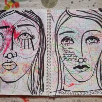 Art journaling - Work with what you have