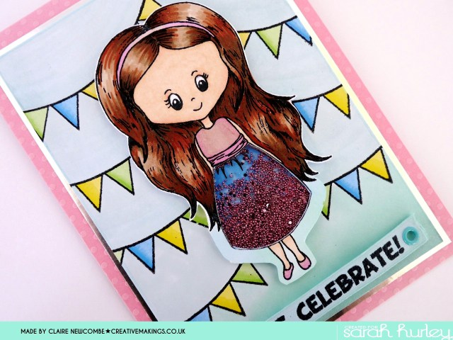 Sarah Hurley Charm Street Cutie card close up