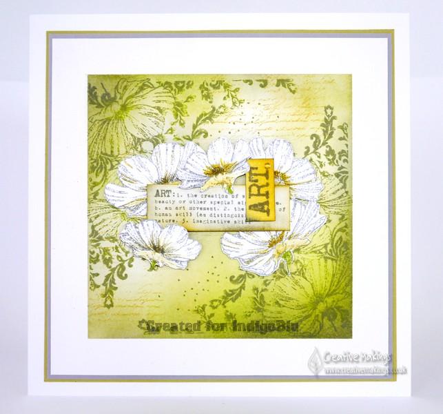 IndigoBlu Anemone Corner – Flower Framing Art