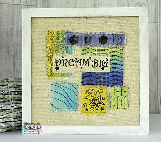 Dream Big fabric stamping with Imagine Design Create