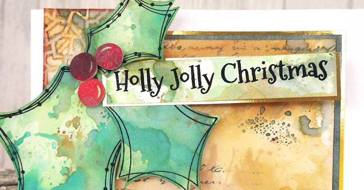 Distress Oxide Christmas card for World Cardmaking Day
