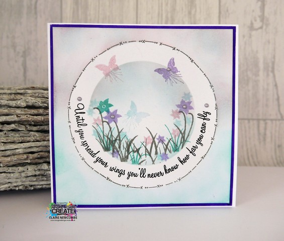 Circle borders using linear stamps Imagine Design Create & Tonic Studios