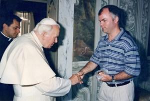 Peter with John Paul II