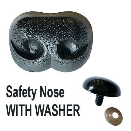 Nostril Safety Nose Black with Washer