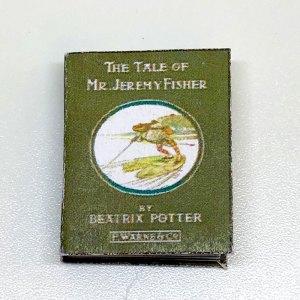 The Tale of Jeremy Fisher Miniature Dollhouse Book Beatrix Potter