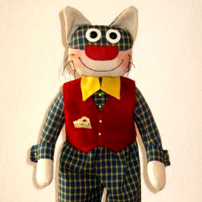 Fat Cat Cloth Doll Pattern by Nerina Roberts