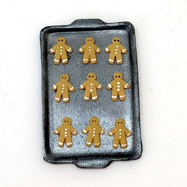 dollhouse food south africa miniature gingerbread men cookie sheet hand made